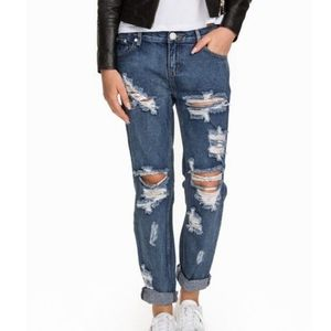 One Teaspoon Awesome Baggies 1955 Ripped Jeans